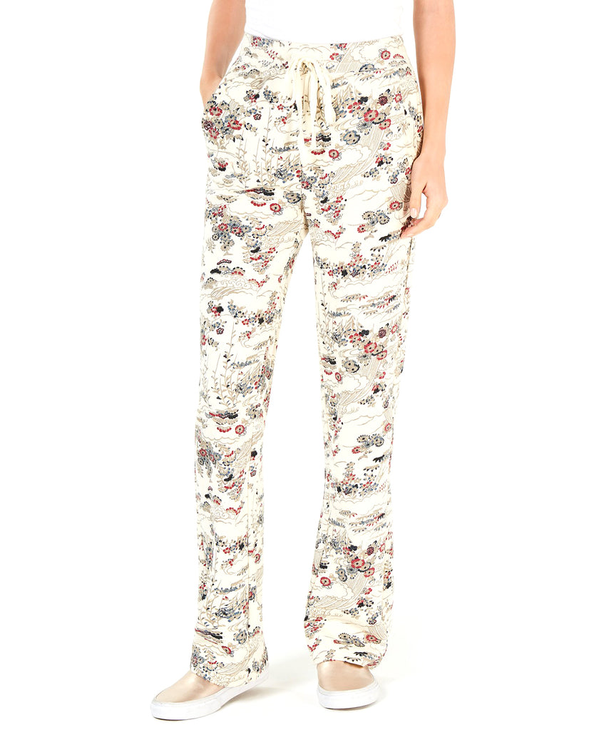 Yieldings Discount Clothing Store's Kimono Garden Sweatpants by Lucky Brand in Natural Multi