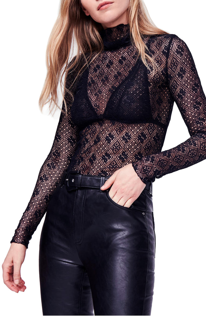 Yieldings Discount Clothing Store's Sweet Memories Turtleneck by Free People in Black