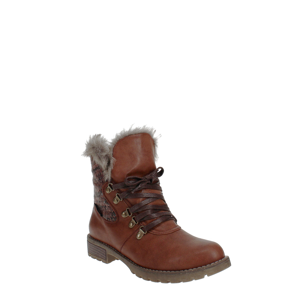 Yieldings Discount Shoes Store's Verna Boots by Muk Luks in Burgundy