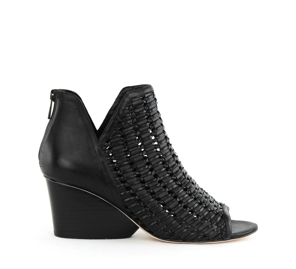 Yieldings Discount Shoes Store's Jacqi Block Heels by Donald Pliner in Black Nappa