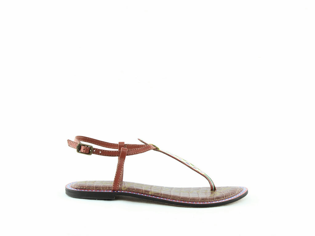 Yieldings Discount Shoes Store's Gigi 6 Thong Sandals by Sam Edelman in Saddle Tribal Leather
