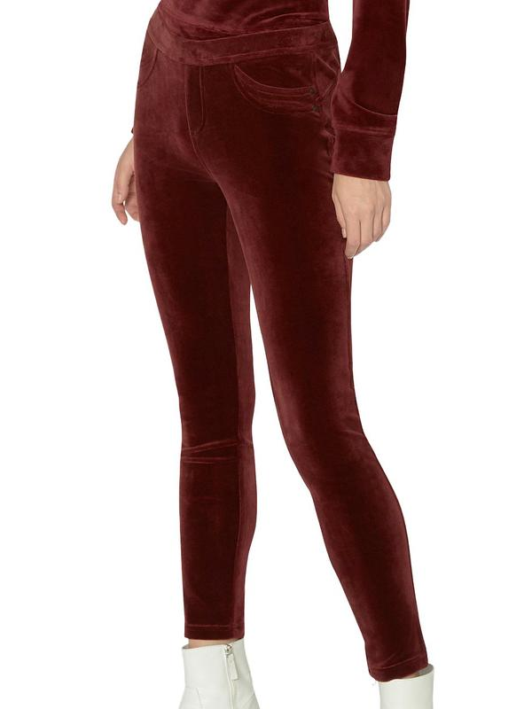 Yieldings Discount Clothing Store's Grease Velvet Pants by Sanctuary in Scarlet