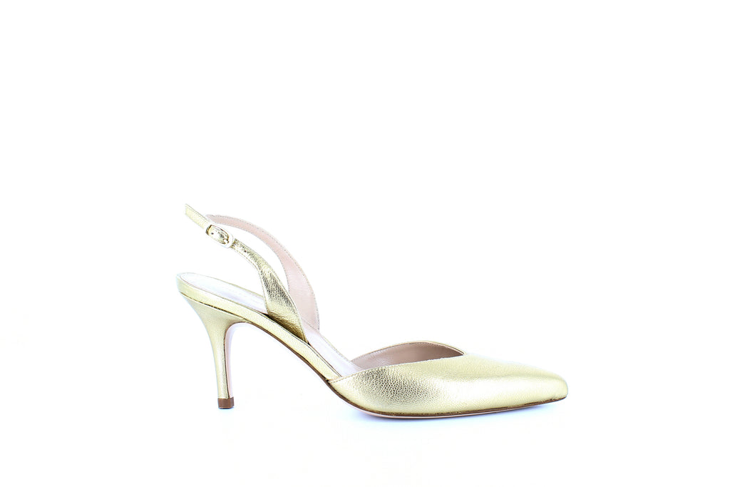 Yieldings Discount Shoes Store's Sleek Slingback Pumps by Stuart Weitzman in Chino Washed Nappa