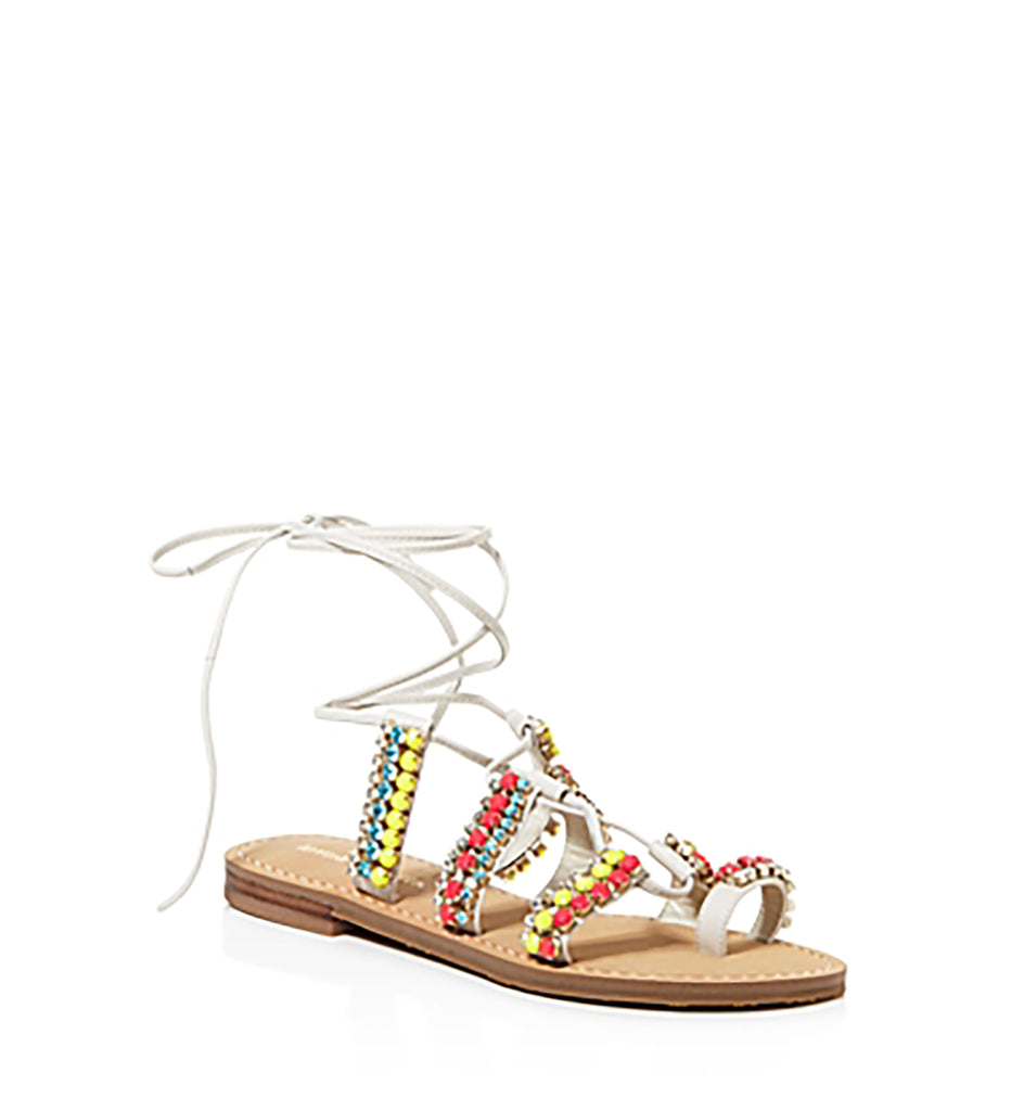 Yieldings Discount Shoes Store's Monday Ghillie Sandals by Ivanka Trump in Ivory