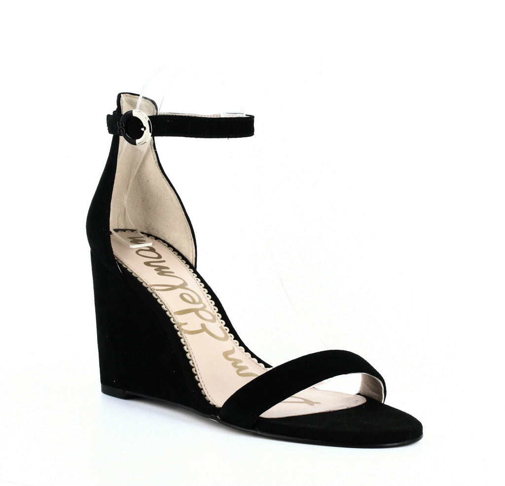 Yieldings Discount Shoes Store's Neesa Wedge Sandals by Sam Edelman in Black