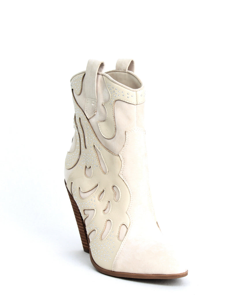 Yieldings Discount Shoes Store's Sterling Cowboy Boots by Carlos by Carlos Santana in Winter White
