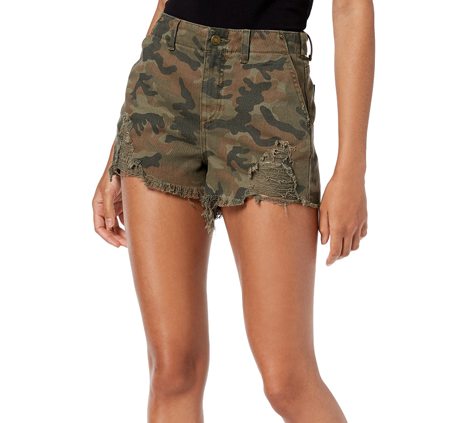 Yieldings Discount Clothing Store's Camo Shorts by Guess in Washed Camo