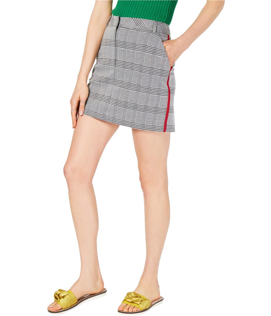 Yieldings Discount Clothing Store's Plaid Mini Skirt by Project 28 NYC in Black/Red