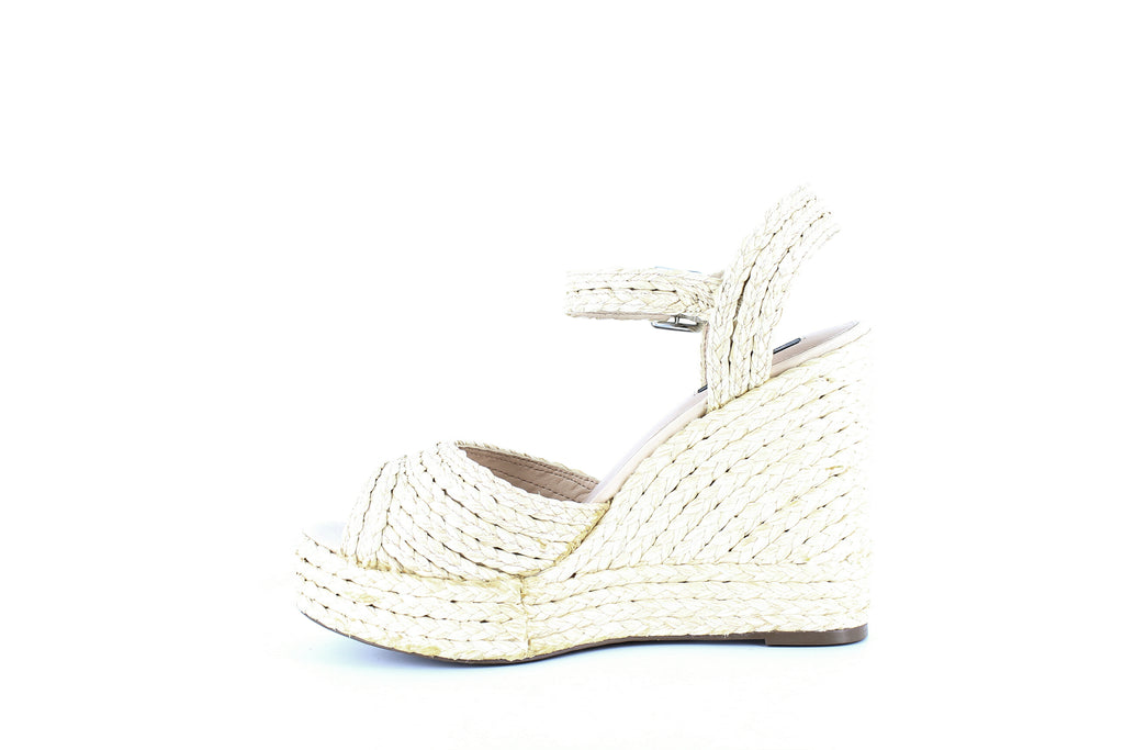 Yieldings Discount Shoes Store's Wedge Espadrille Sandals by Aqua in Natural Raffia