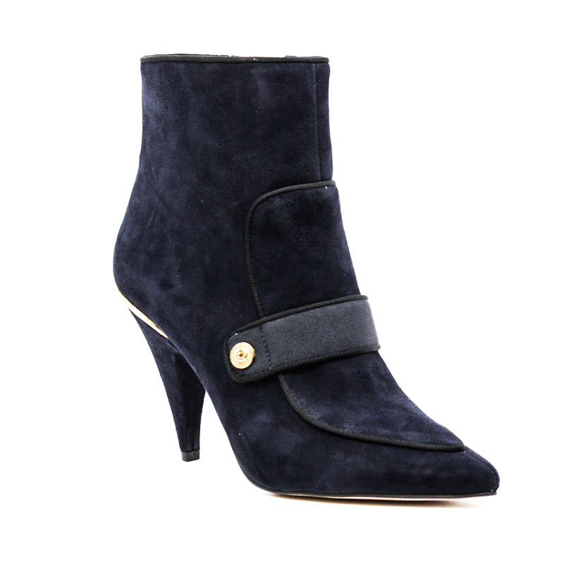 Yieldings Discount Shoes Store's Westham Heels Ankle Booties by Nine West in Navy/Black