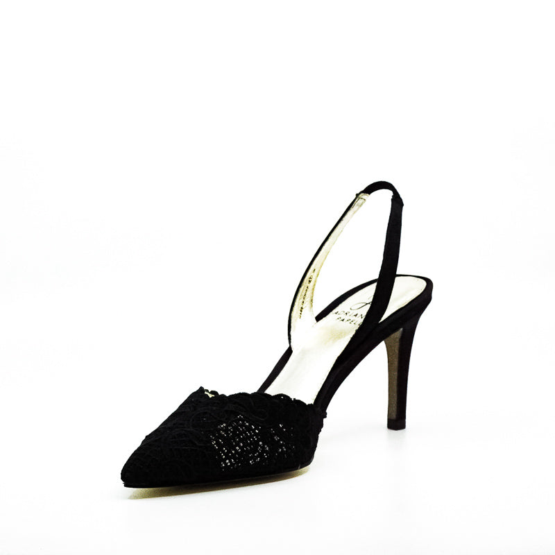 Yieldings Discount Shoes Store's Hallie Slingback Heels by Adrianna Papell in Black
