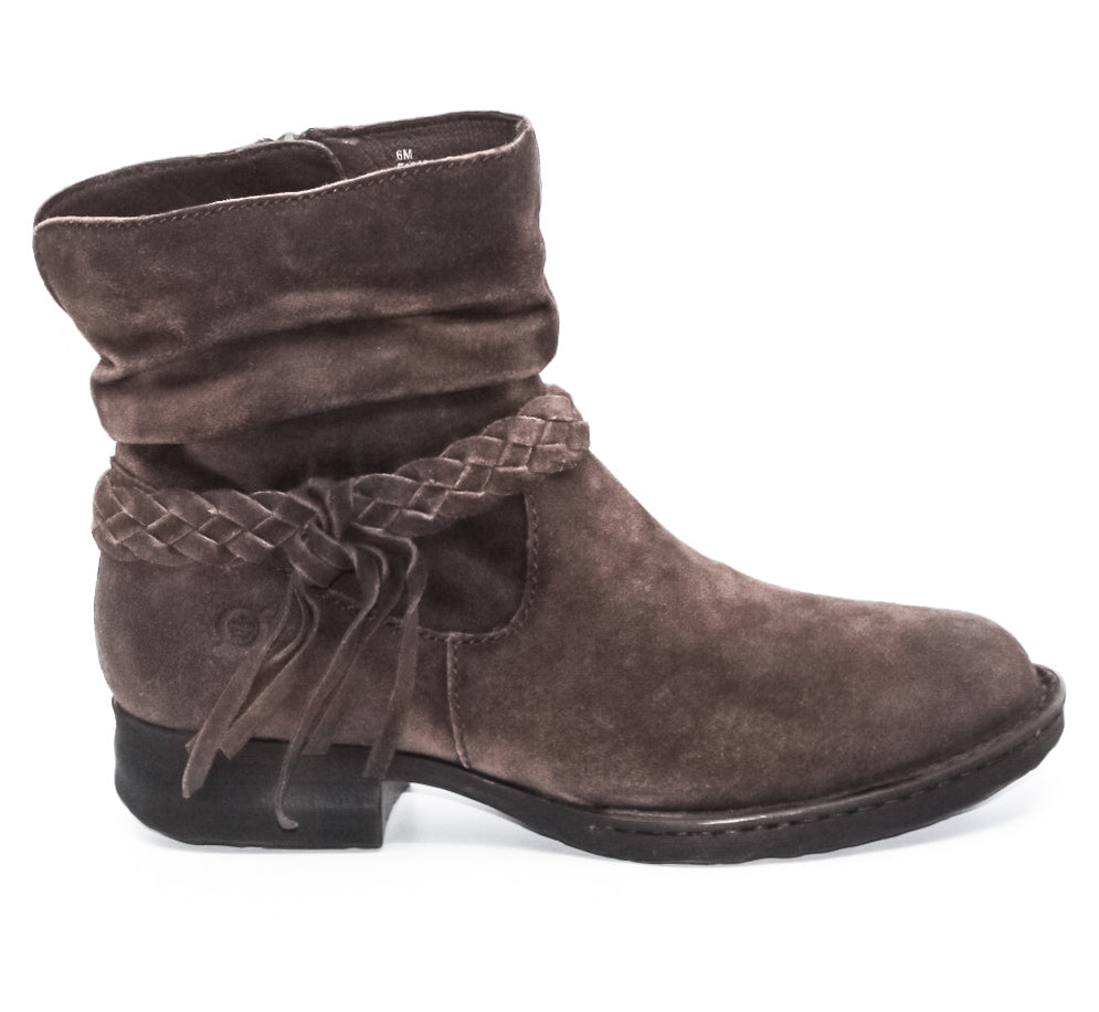 Yieldings Discount Shoes Store's Abernath Suede Boots by Born in Dark Brown