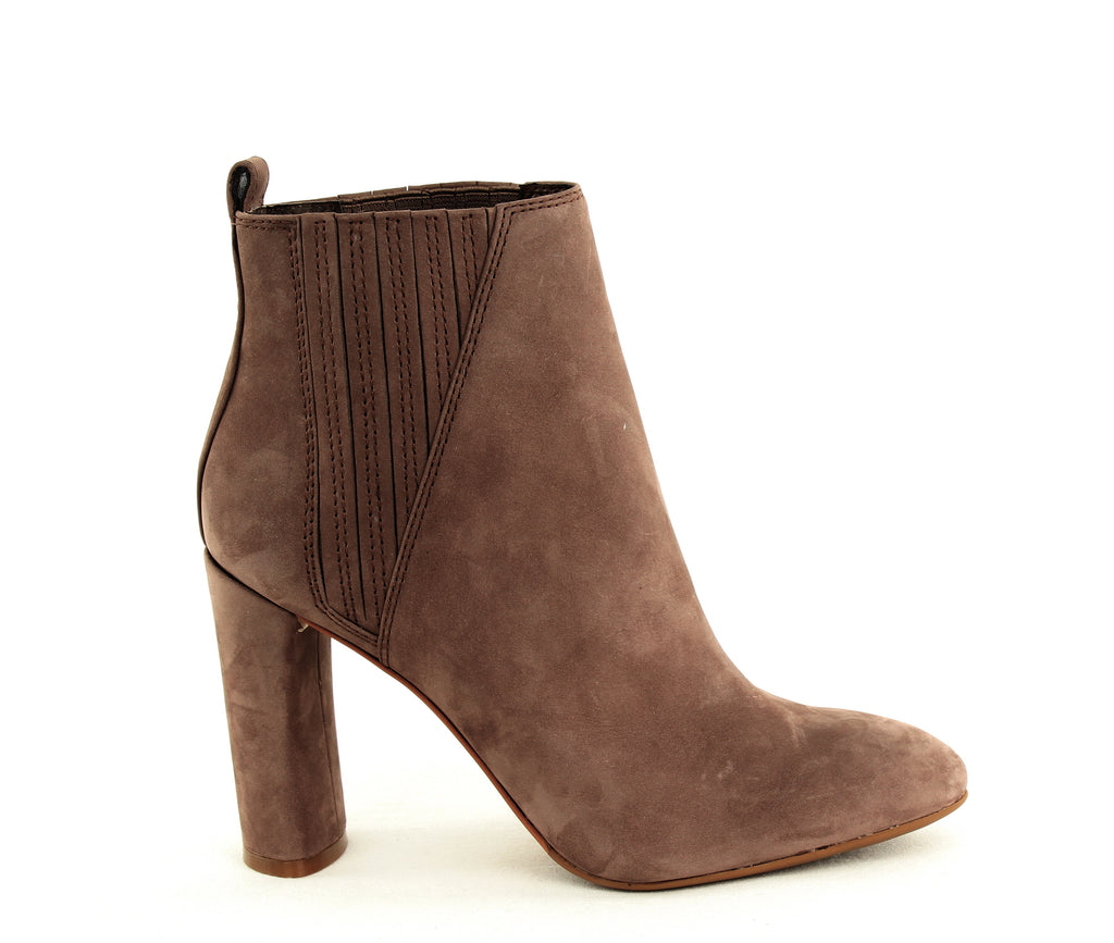 Yieldings Discount Shoes Store's Fateen Heeled Booties by Vince Camuto in Seneca Rock