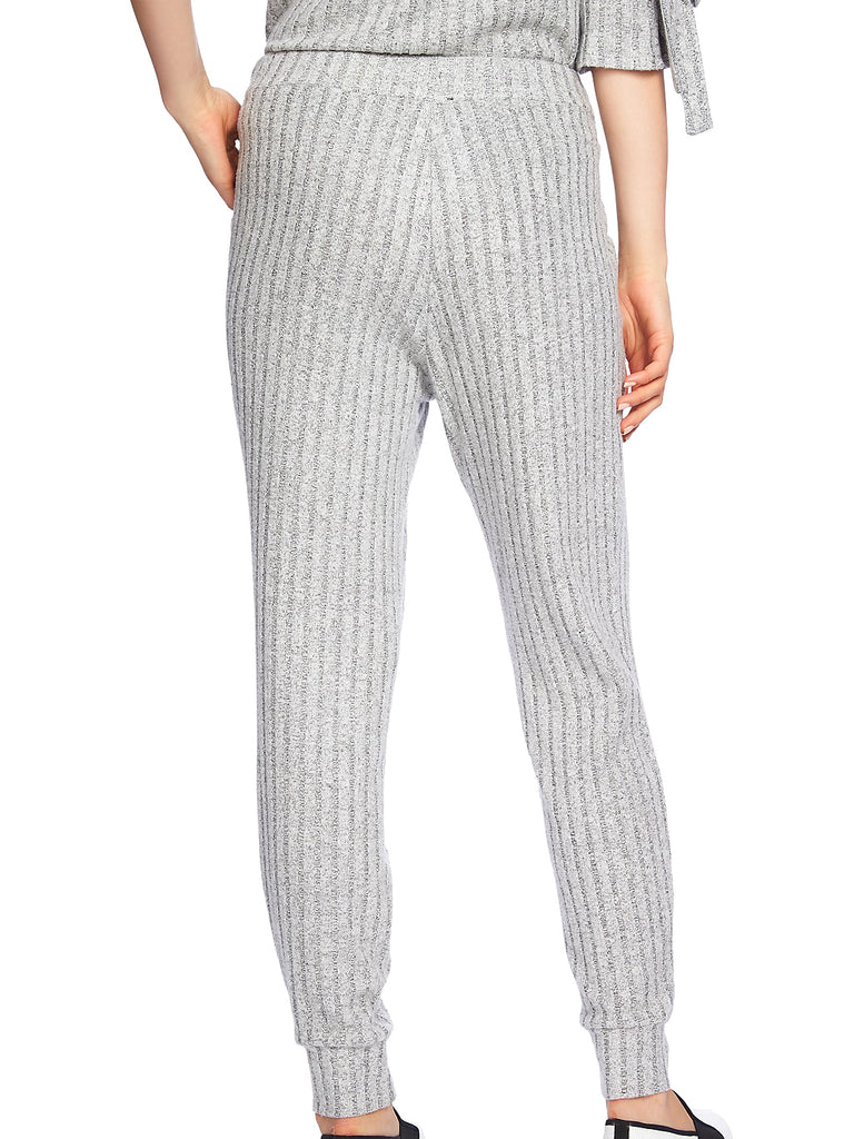 Yieldings Discount Clothing Store's Cozy Ribbed Jogger Pants by 1.State in Light Heather Grey