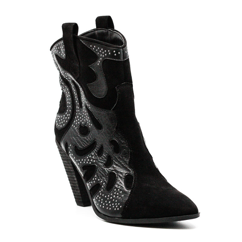 Yieldings Discount Shoes Store's Sterling Cowboy Boots by Carlos Santana in Black