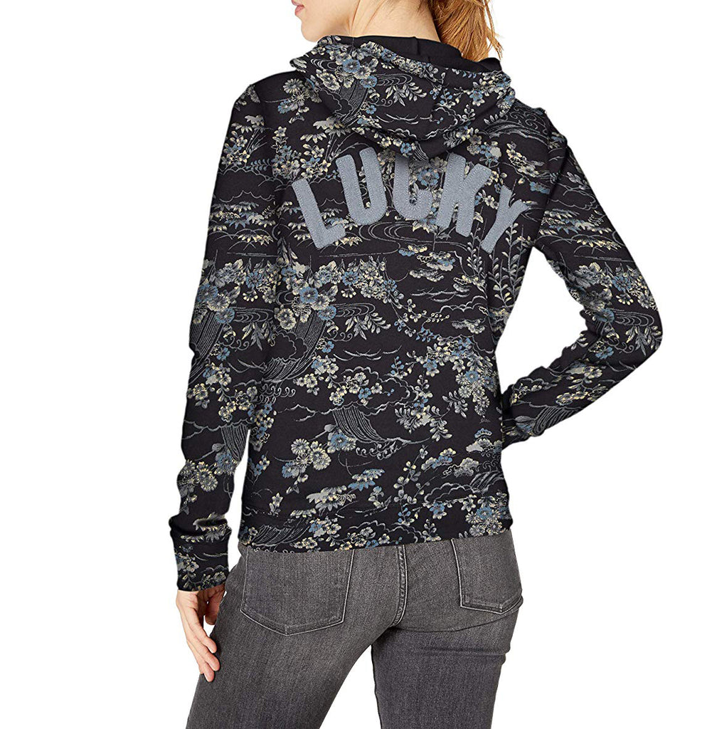 Yieldings Discount Clothing Store's Kimono Garden Hoodie by Lucky Brand in Black Multi