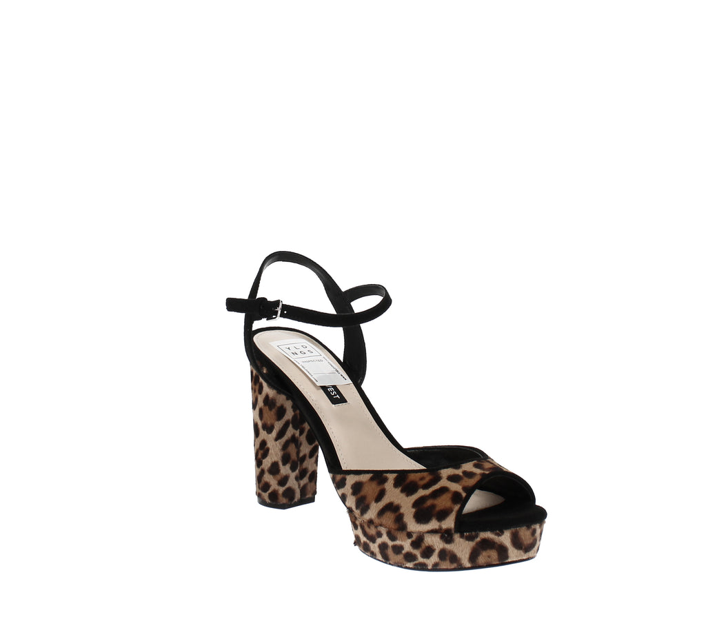 Yieldings Discount Shoes Store's Gail Platform Dress Sandal by Nine West in Natural Multi Pony
