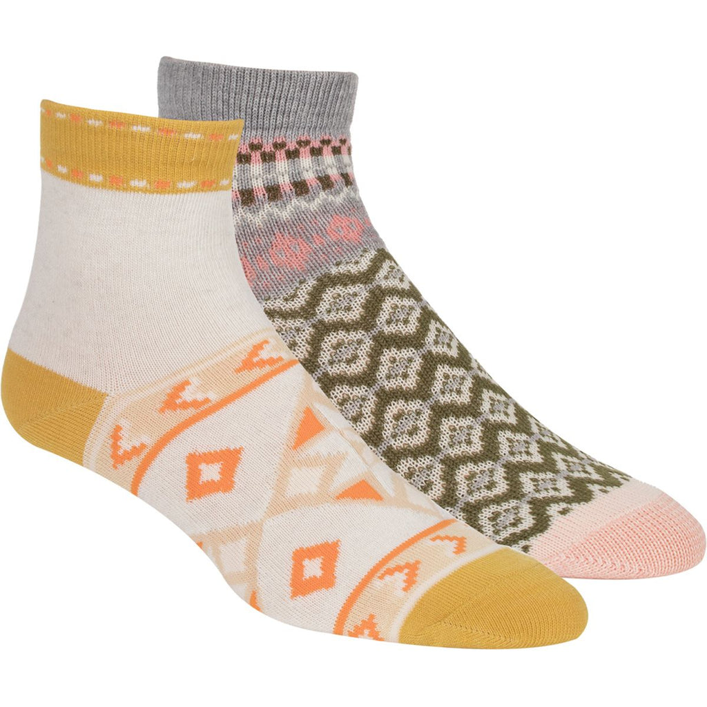 Yieldings Discount Clothing Store's Double Trouble Sock Set by Free People in Gold