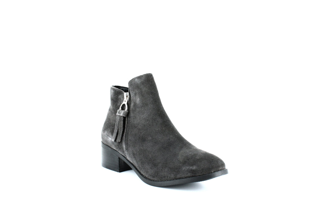 Yieldings Discount Shoes Store's Dacey Suede Ankle Booties by Steve Madden in Grey