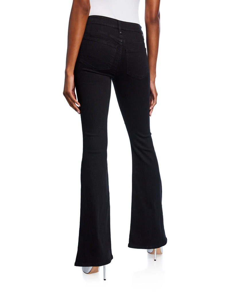 Yieldings Discount Clothing Store's Lace-Up Flared Jeans by RACHEL Rachel Roy in Solid Black