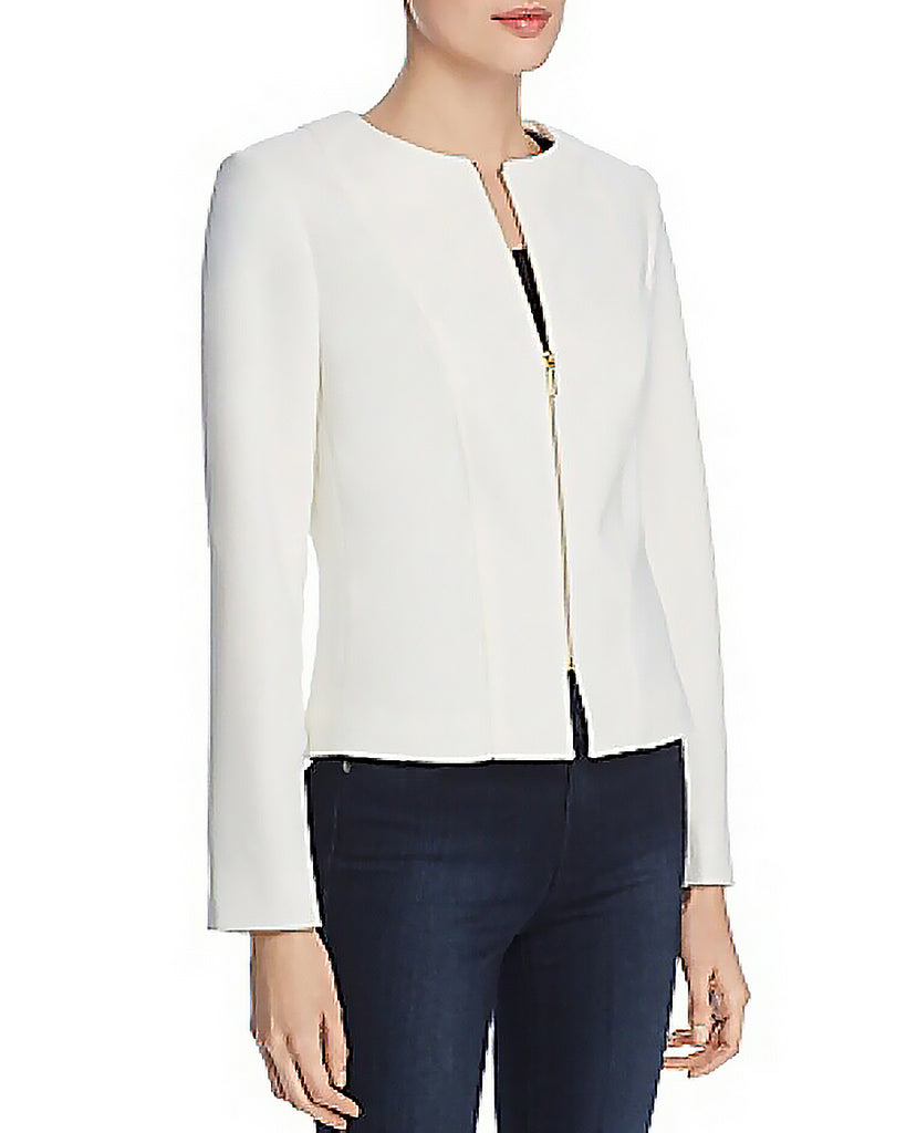 Yieldings Discount Clothing Store's Zip Jacket by Tahari in Ivory