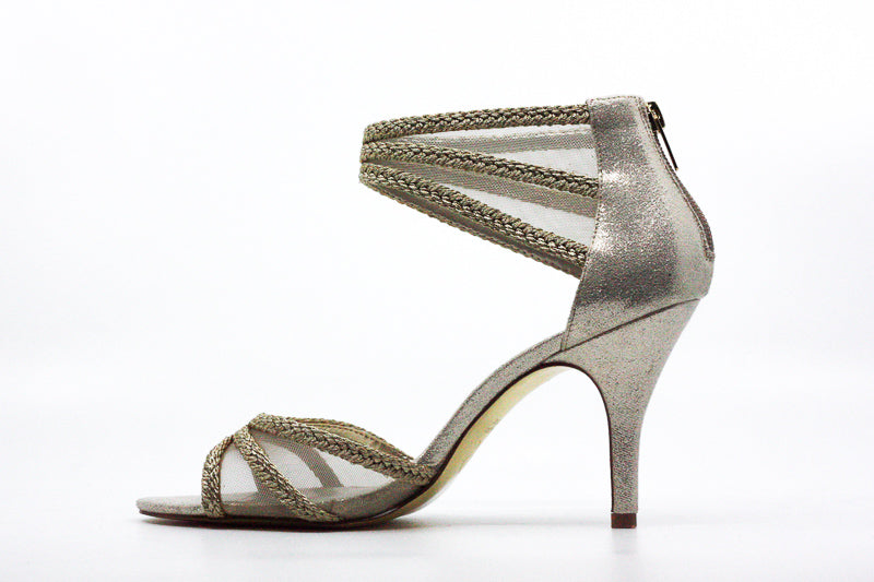 Adrianna Papell | Platino Metallic Dress Heels