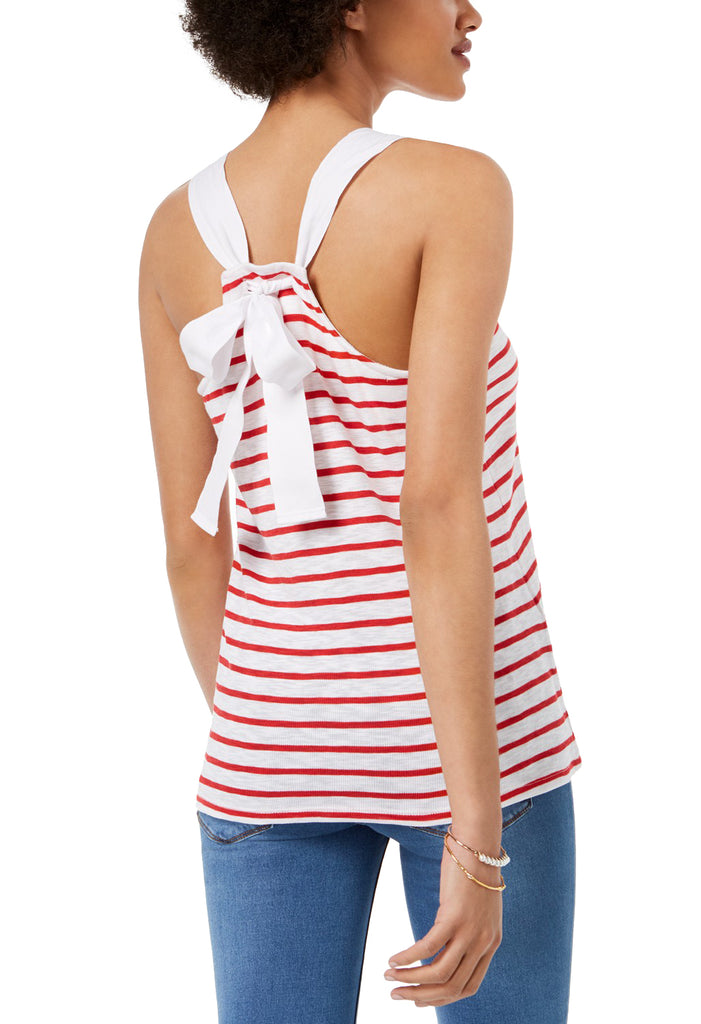 Yieldings Discount Clothing Store's Knit Samson Striped Tank Top by Maison Jules in Firespin Combo