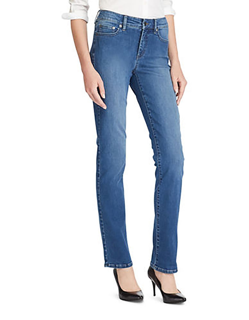 Yieldings Discount Clothing Store's Premier Straight Jeans by Lauren by Ralph Lauren in Blue