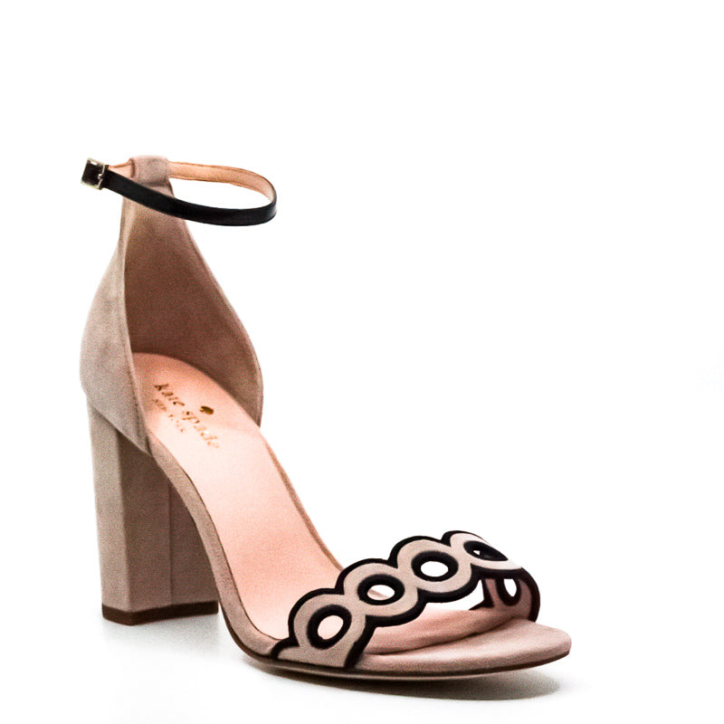 Yieldings Discount Shoes Store's Orson Block Heel Sandals by Kate Spade in Pink