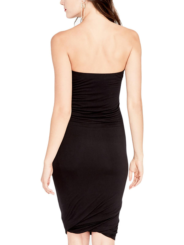 Yieldings Discount Clothing Store's May Twisted Tube Dress by RACHEL Rachel Roy in Black