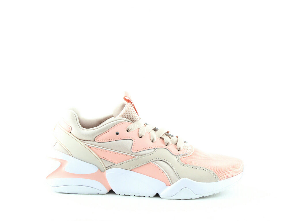 Yieldings Discount Shoes Store's Nova Girl Power Sneakers by Puma in Peach Bud/Pearl Blush