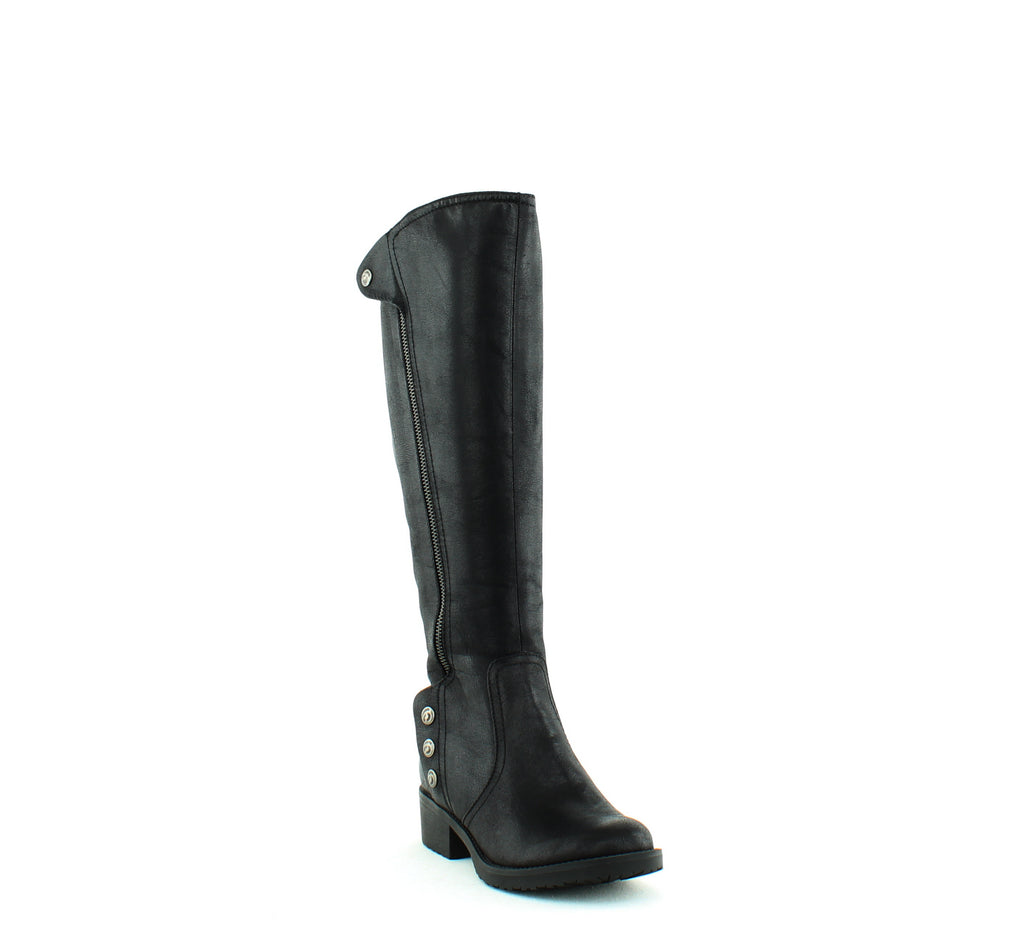 Yieldings Discount Shoes Store's Oria2 Knee-High Boots Wide Calf by Baretraps in Black