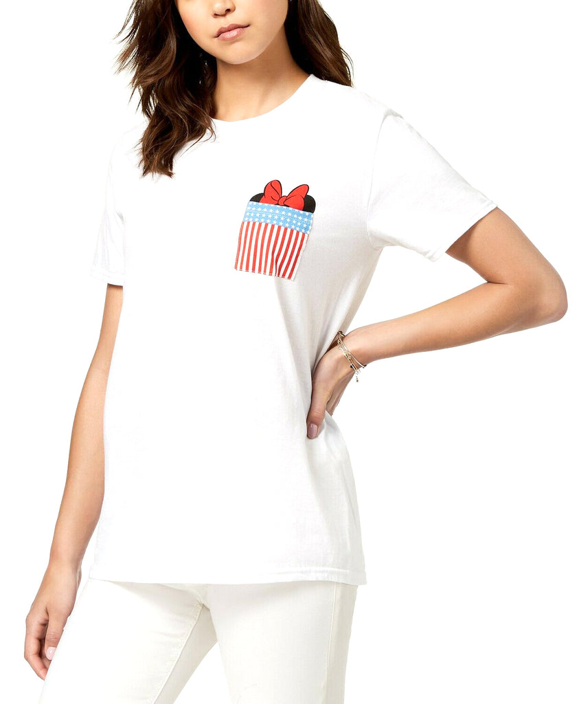 Yieldings Discount Clothing Store's Minnie Mouse Pocket T-Shirt by Hybrid in White.