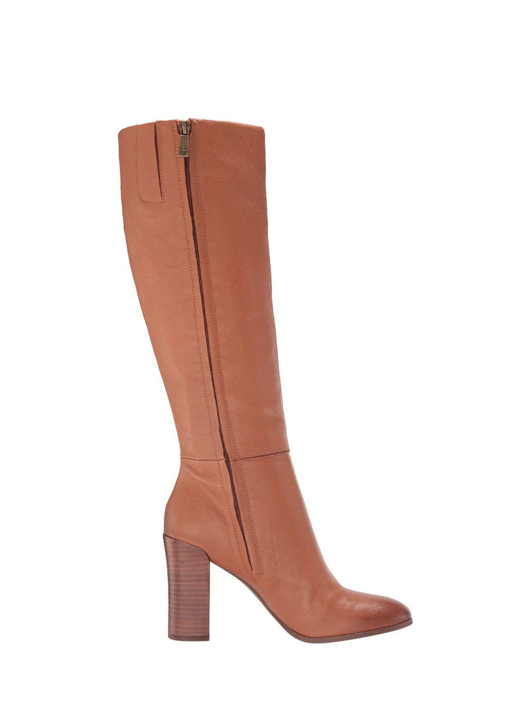 Yieldings Discount Shoes Store's Justin Block-Heel Tall Boots by Kenneth Cole in Cognac