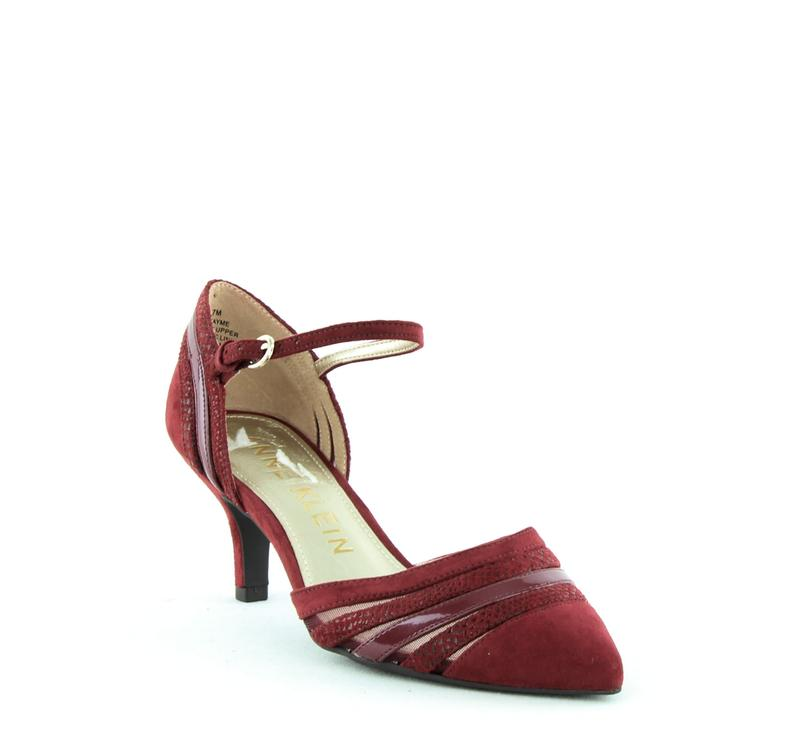 Yieldings Discount Shoes Store's Fayme Fabric Pump by Anne Klein in Wine