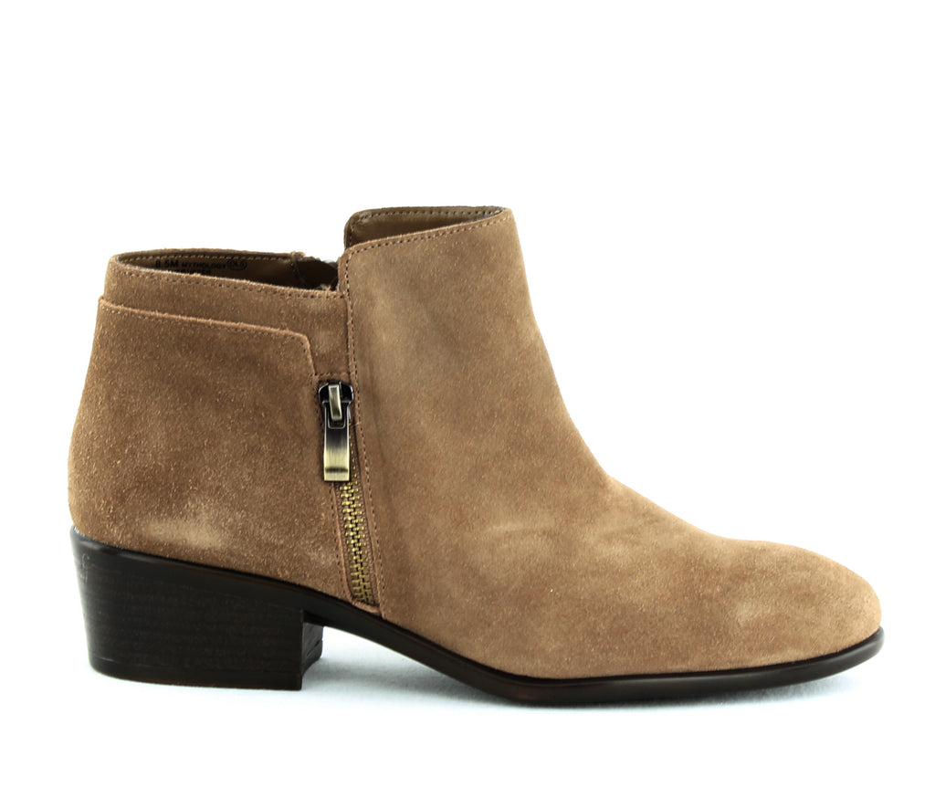 Yieldings Discount Shoes Store's Mythology Ankle Booties by Aerosoles in Light Tan Suede