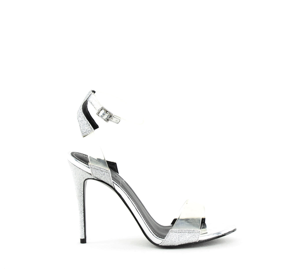 Yieldings Discount Shoes Store's Enya 2 Stiletto Sandals by Kendall + Kylie in Silver