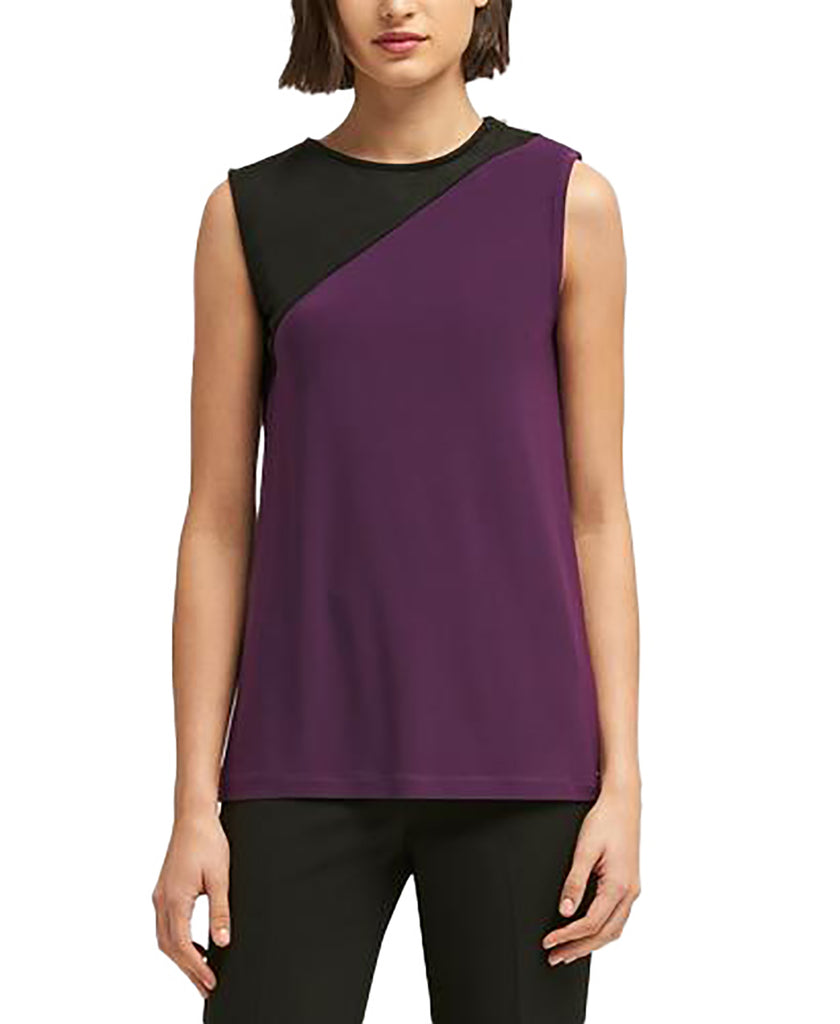 Yieldings Discount Clothing Store's Colorblocked Zipper-Trim Shell by DKNY in City Lights