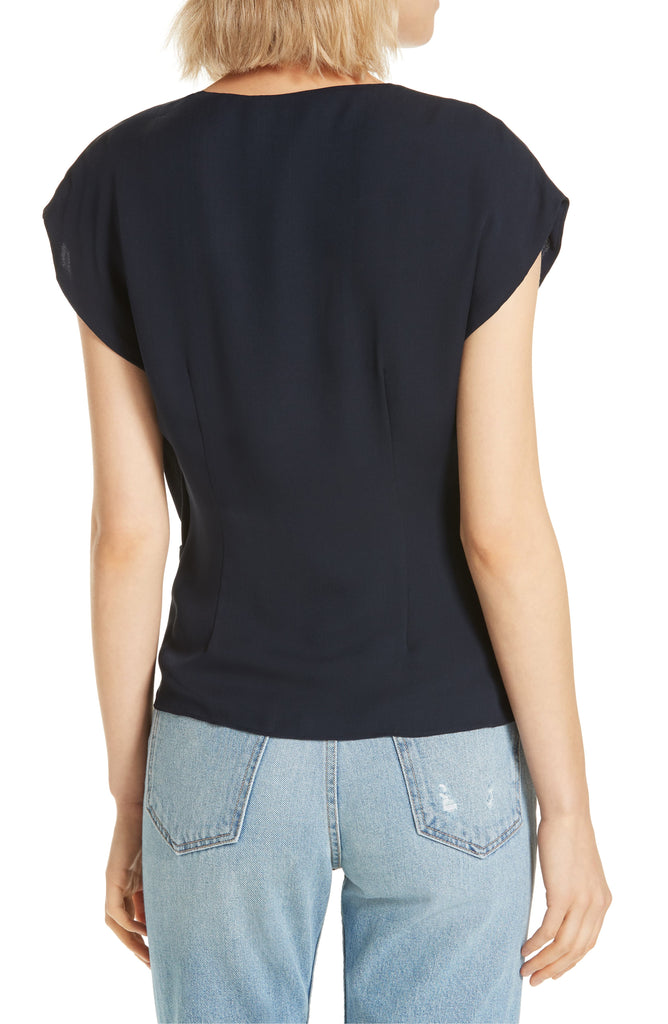 Yieldings Discount Clothing Store's Bosko Twist-Front Top by Joie in Midnight