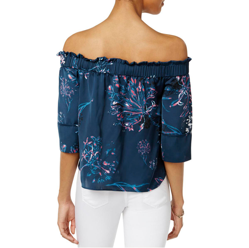 Rachel Roy | Printed Off-the-Shoulder Pullover Top