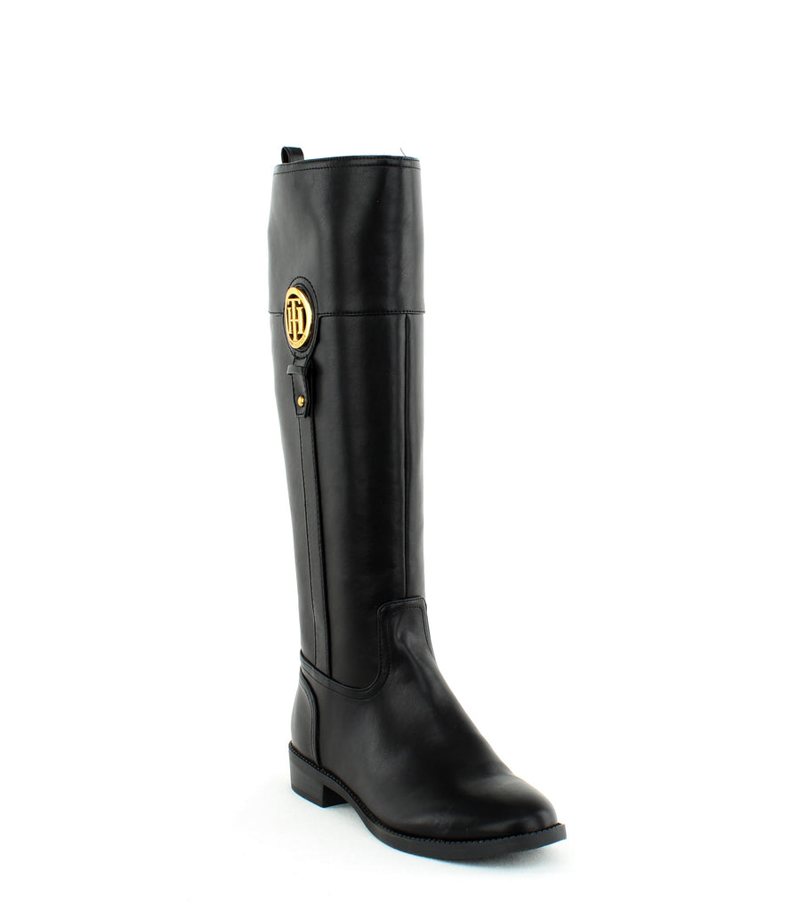 Yieldings Discount Shoes Store's Ilias2 Tall Boot by Tommy Hilfiger in Black