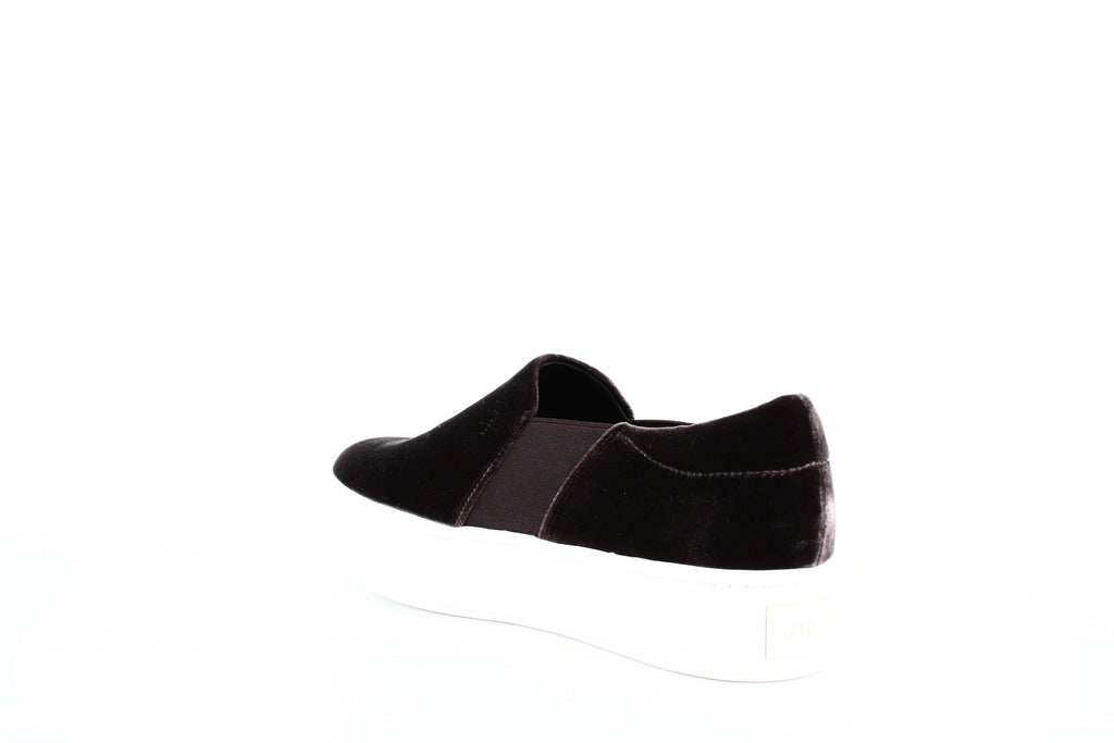 Yieldings Discount Shoes Store's Warren Velvet Platform Sneakers by Vince in Grey FB