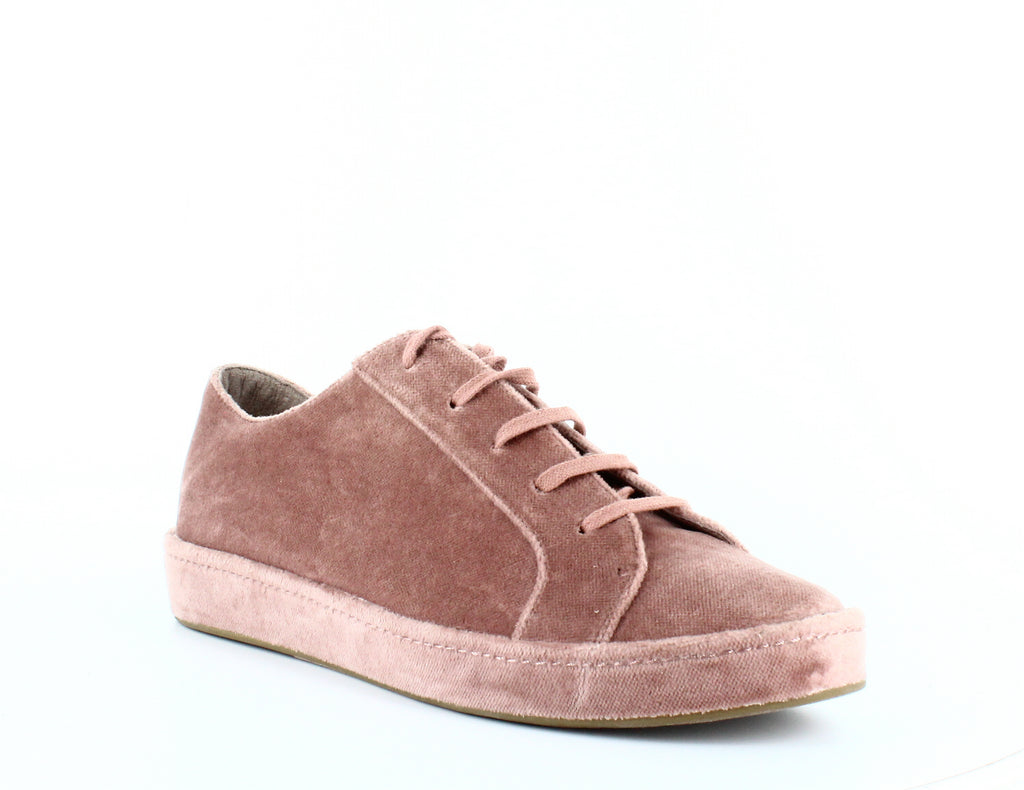 Yieldings Discount Shoes Store's Daryl Velvet Lace-up Sneakers by Joie in Light Mauve