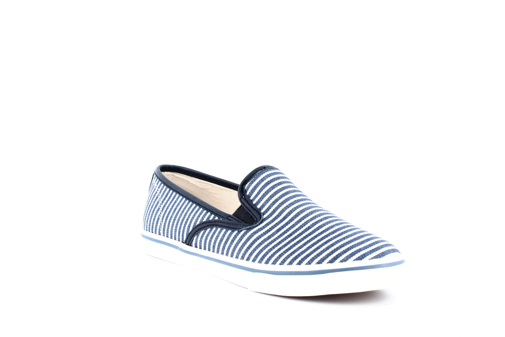 Yieldings Discount Shoes Store's Janis Fabric Slip-On Sneakers by Lauren by Ralph Lauren in Railroad Stripe