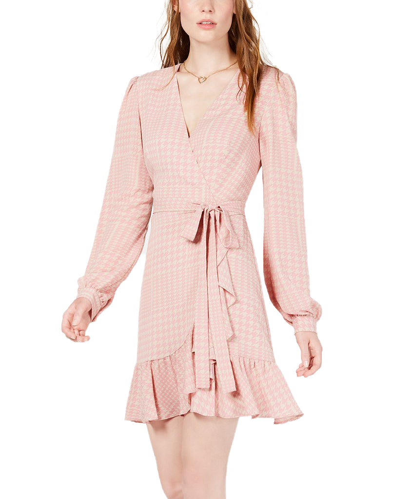 Yieldings Discount Clothing Store's Wrap Dress by Leyden in Blush Pink