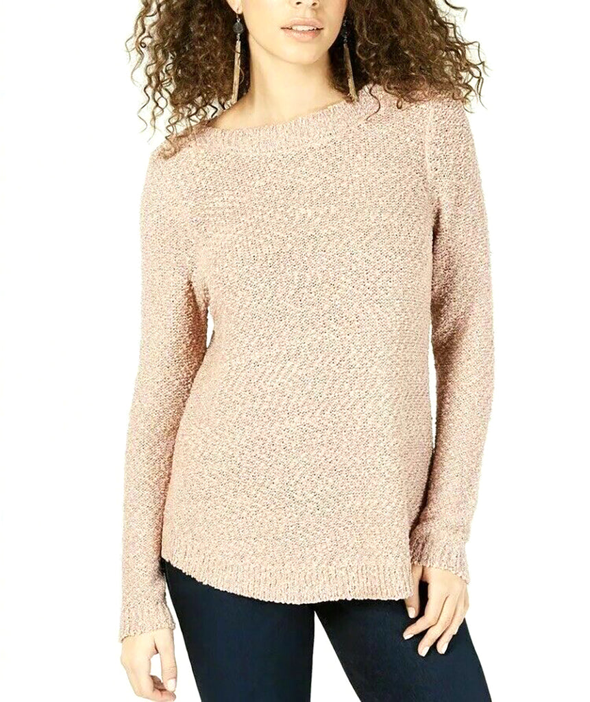 INC | Textured-Knit Shimmer Sweater