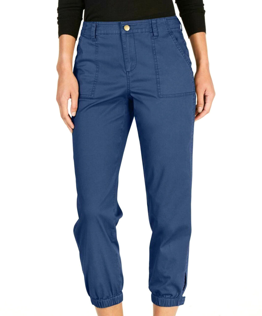 Yieldings Discount Clothing Store's Snap Cuff Casual Pants by Style & Co in New Uniform Blue