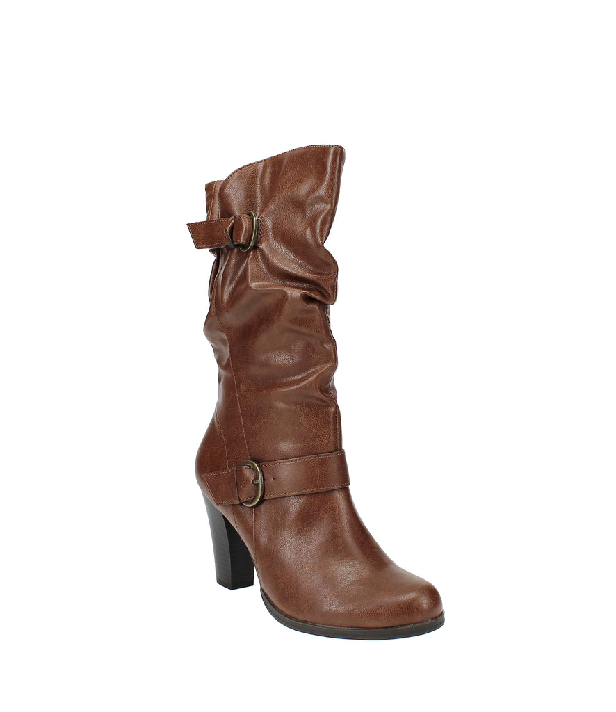 Yieldings Discount Shoes Store's Sachi Midshaft Boot by Style & Co in Cognac