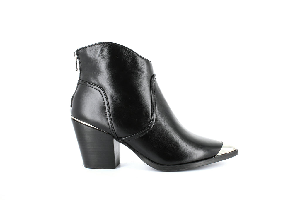 Yieldings Discount Shoes Store's Pose Mid-Heel Booties by Aqua in Black
