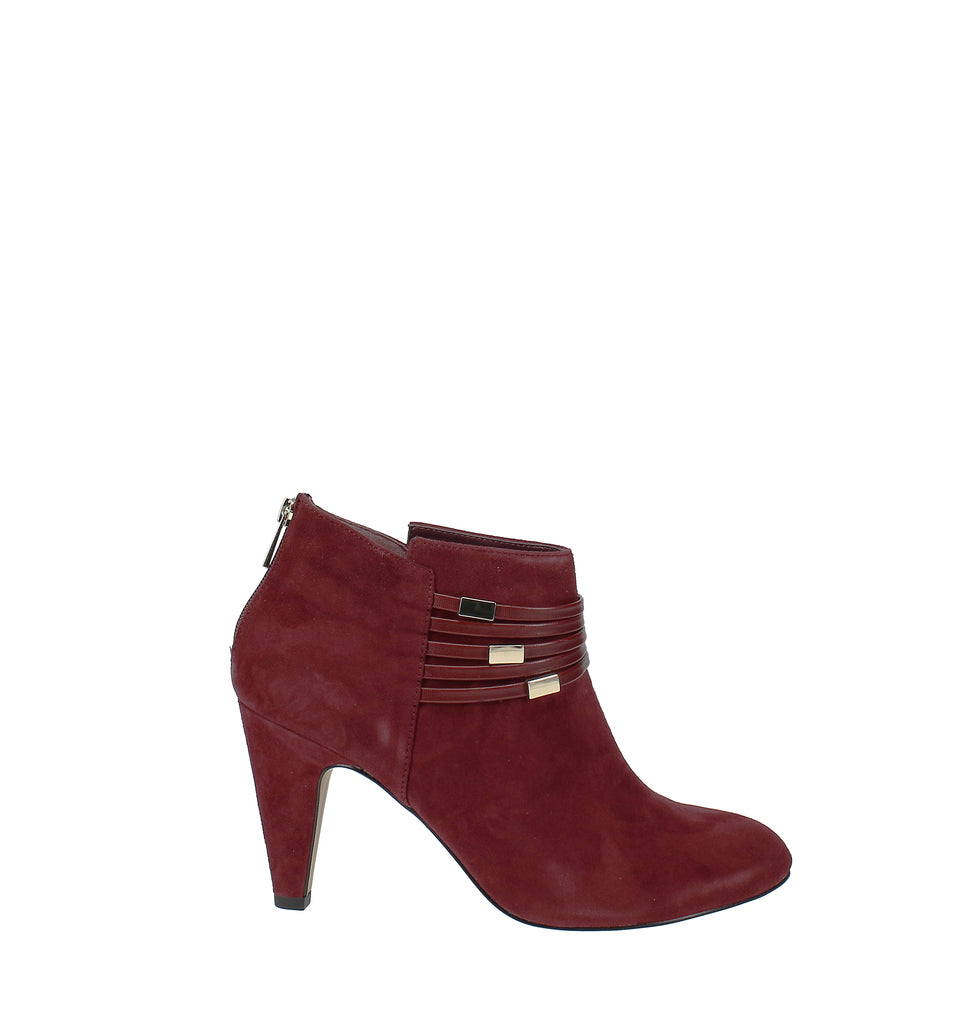 Yieldings Discount Shoes Store's Nerissa Ankle Booties by Bella Vita in Burgundy